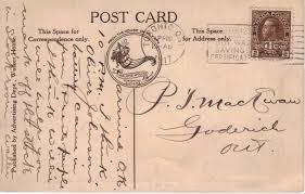 Postcard and stamp